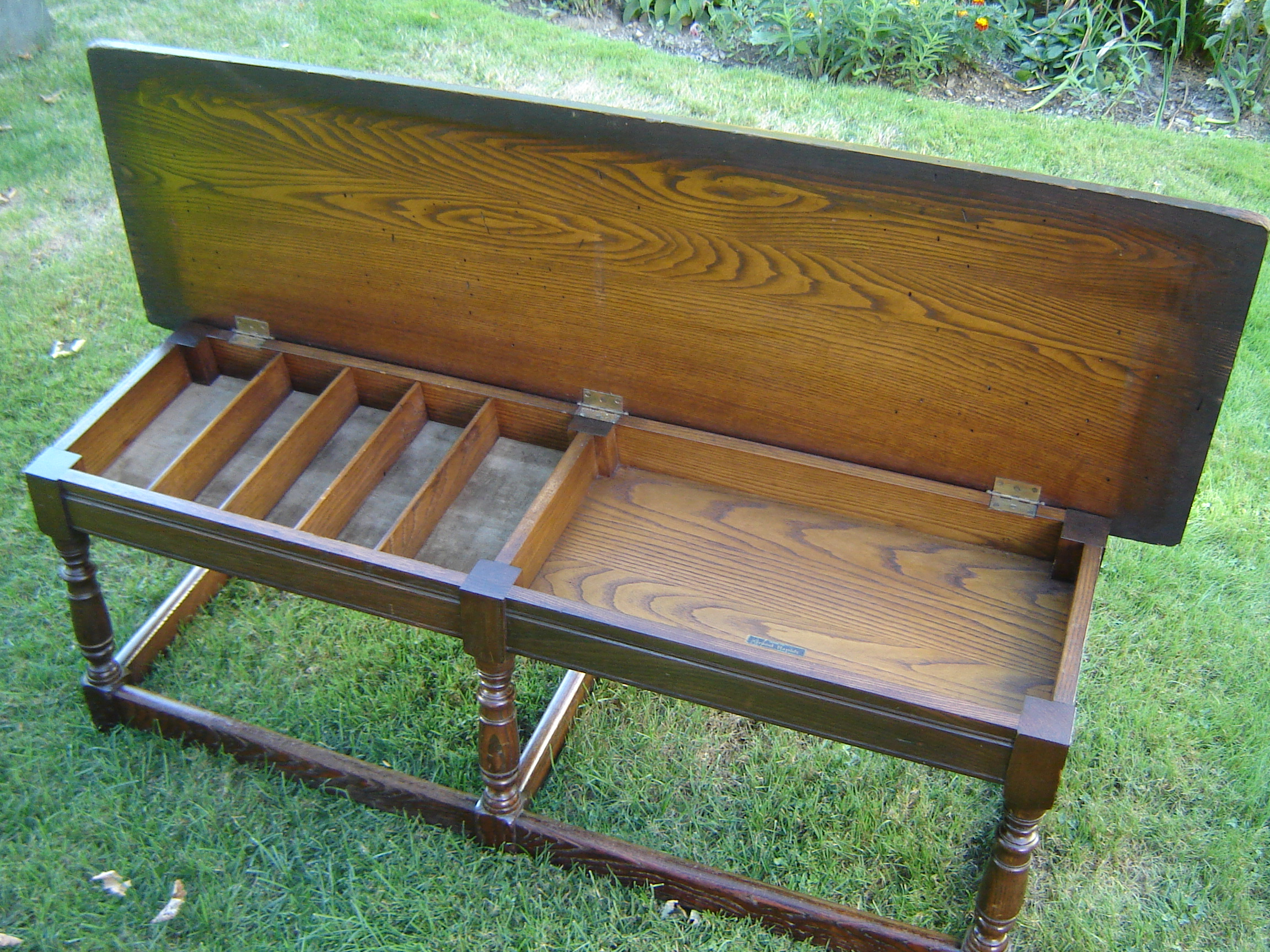 Grand Rapids Chair Company Labeled Oak Bench Crow Haven Restorations