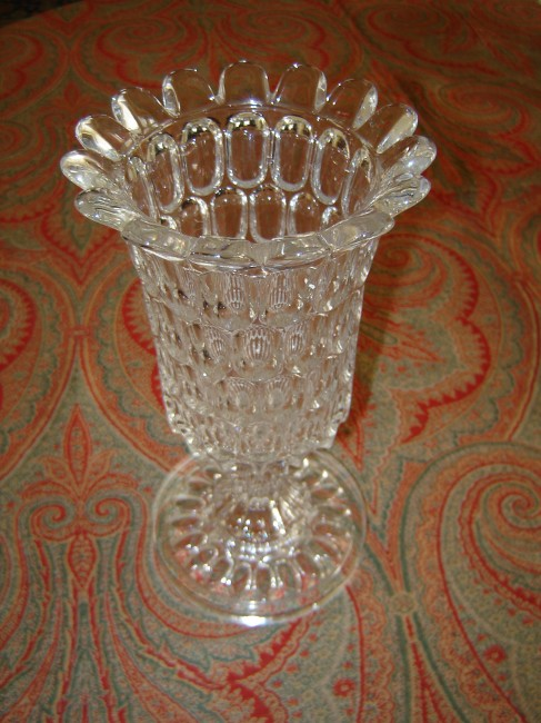 Thumbprint Flint Glass Celery Vase Crow Haven Restorations